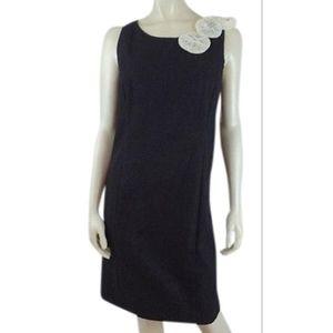 Helene Blake Dress 8 Gray Heathr CottonPoly Sheath